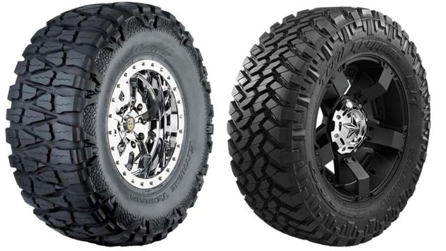 画像: 左が「Mud Grappler」、右が「Trail Grappler M/T」。