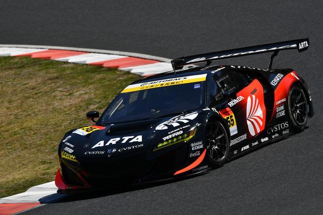 画像: スーパーGTデビュー戦の福住仁嶺がドライブするARTA NSX GT3がポールポジションを獲得。