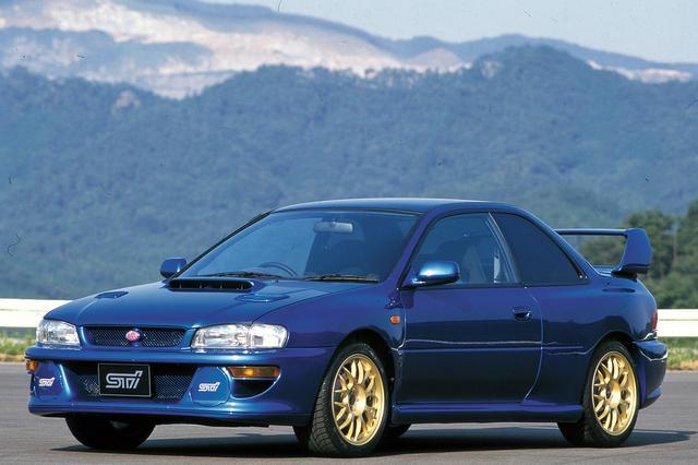 画像: 1998年に発売された、22B STiバージョン。WRC参戦の記念的なモデルで、ワールドラリーカー97の外観を忠実に再現している。