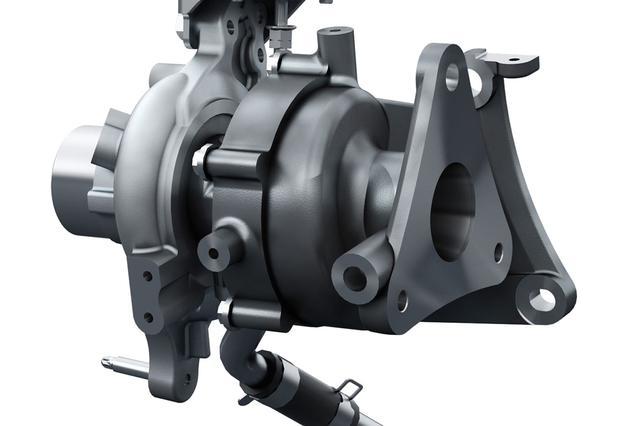画像: 現行マツダ デミオの1.5Lディーゼルエンジンに採用されているターボ。