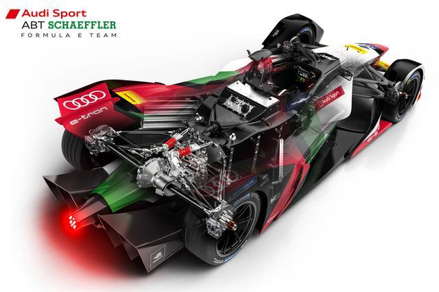 画像: アウディスポーツが公表した透視イラスト。モーターなど主要パーツは通常エンジンが置かれる場所に収まる。