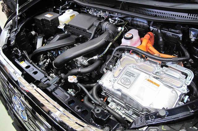 画像: 1.5L直4エンジン+モーターのハイブリッド。ただし燃料はLPGだ。