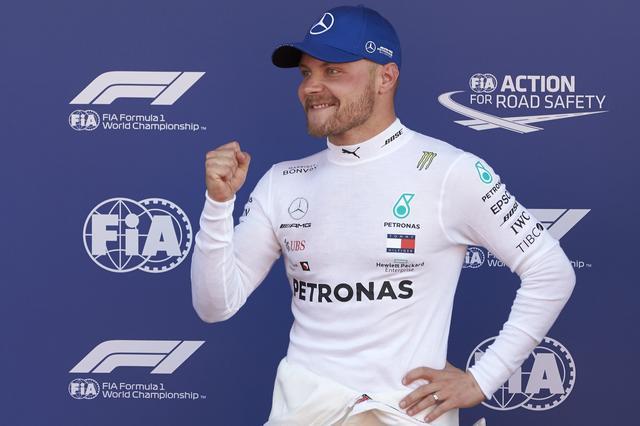 画像: 驚異的なタイムでポールポジションを獲得したメルセデスAMGのバルテリ・ボッタス。