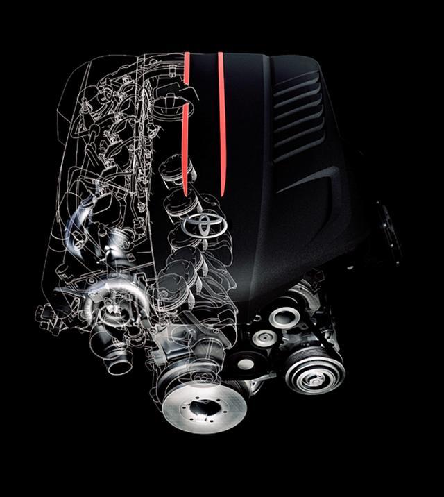 画像: 直6エンジンのイメージ図