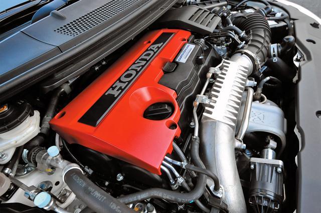 画像: VTECと直噴ターボを組み合わせFF量産車トップの310psを発生。7000rpmまで一気に吹け上がる快感はホンダエンジンならでは。