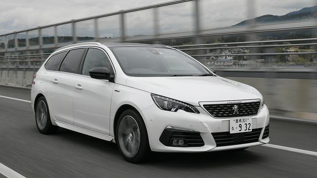 画像: 試乗車は特別仕様車308SW GTライン ブルーHDi。新型ディーゼルユニット搭載のGTライン ブルーHDiは、ハッチバックモデルにもラインアップ。
