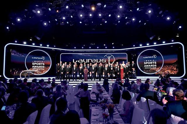 画像: ローレウス ワールド スポーツ アワードの授賞式。