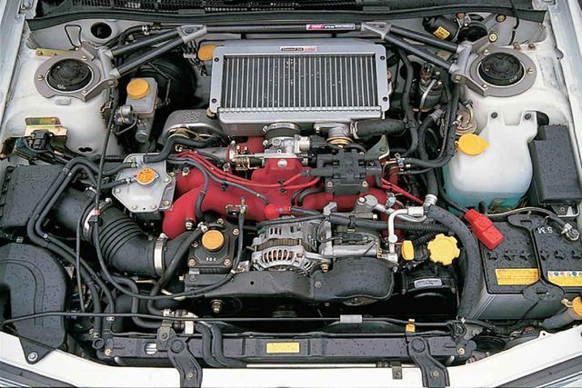 画像: EJ20ターボはこれ以上の出力/トルクアップはエンジン自体を見直さないと無理、というレベルまでチューンされ尽くされていた。