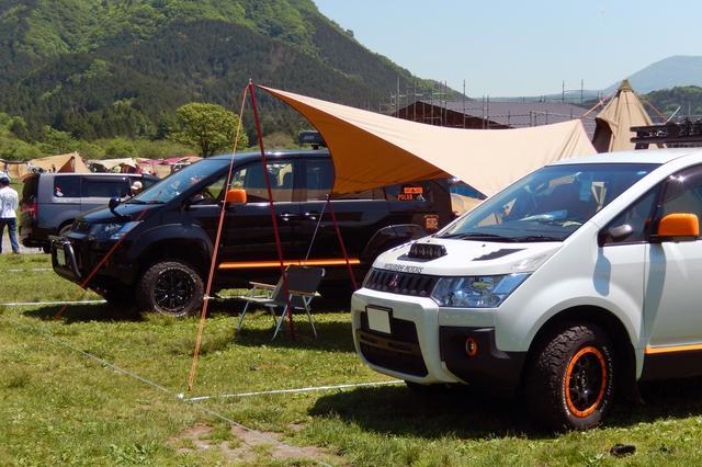 画像: デリカD:5をはじめ三菱SUVでの参加が目立つ。