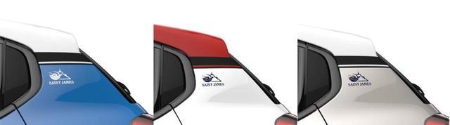画像: C3セントジェームスはコバルトブルー/ブランバンキーズ/サーブルの3色展開。ルーフストライプは、コバルトブルーとサーブルがそれぞれのボディ色に準じたもの、ブランバンキーズはアデンレッドとなる。
