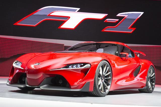 画像: 2014年1月のデトロイトショーに出品されたコンセプトカー「FT-1」。担当デザイナーは豊田社長に「スープラを想定してデザインした。パワートレーンは直列6気筒エンジンで…と熱っぽく語ったという。