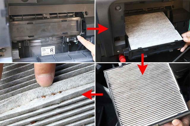 画像: グローブボックスさえ外すことができれば簡単な作業。定期的にゴミを除去するだけでも効果はありそうだ。
