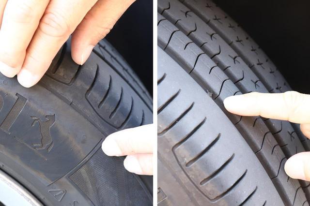 画像: タイヤの残り溝、ひび割れをチェック。