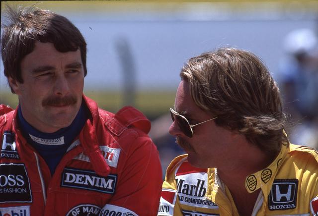 画像: ドライバーはこの年からチームに加入したナイジェル・マンセル(左)とケケ・ロズベルグ。