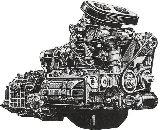 画像: 1966年5月に発表したスバル 1000の水平対向4気筒をツインキャブでチューンしたEA53型エンジン。