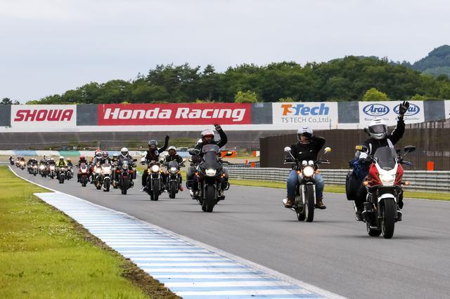 画像: イベント最後のアトラクション、ツインリンクもてぎサーキットの本コースを走れるバレードラン。