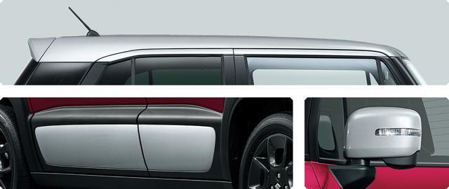 画像: スズキ クロスビー スターシルバーエディションはルーフやサイドパネル、ドアミラーカバーに特別色を配した。