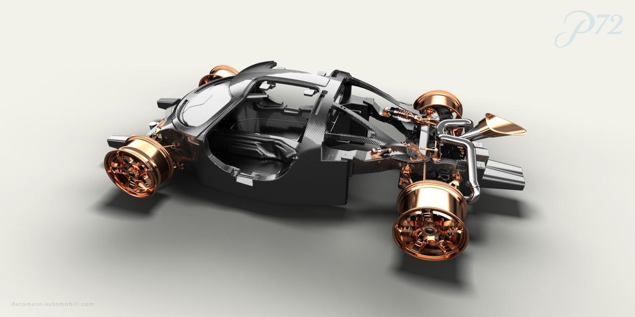 画像: シャシはオールカーボンファイバー製。ベースとなっているのはV12ミッドシップのハイパーカー「アポロIE」のものだ。