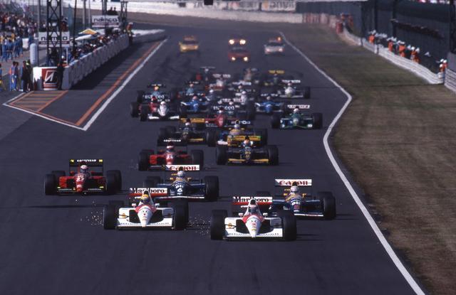 画像: 鈴鹿ではマクラーレン・ホンダがウィリアムズ、フェラーリを圧倒。セナとベルガーは完全にレースを支配した。