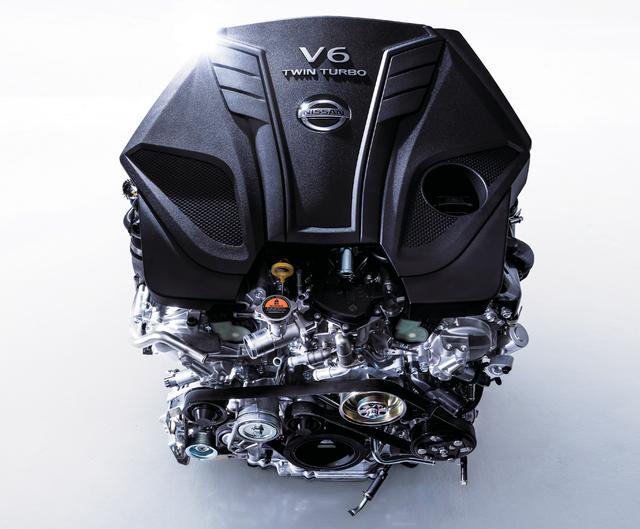 画像: GT系で300ps、400Rに至っては400psの最高出力を誇る新世代の3リッターV6ツインターボエンジン(VR30DDTT型)。
