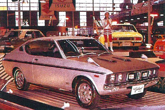 """画像: 69年10月の東京モーターショーで発表されたGTOのベースモデルのコードネームは""""ギャランGTX-1""""。ラジエターグリル内とバンパー下にフォグ/スポットを装備していた。"""