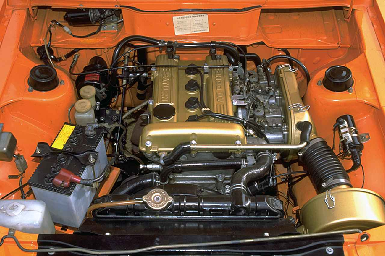画像: 「サターンAⅢ」の名で呼ばれた4G32型・直4 DOHCエンジン。ソレックスツインで125psを発生。ロングストロークながら鋭いピックアップであった。写真は最終型の仕様。