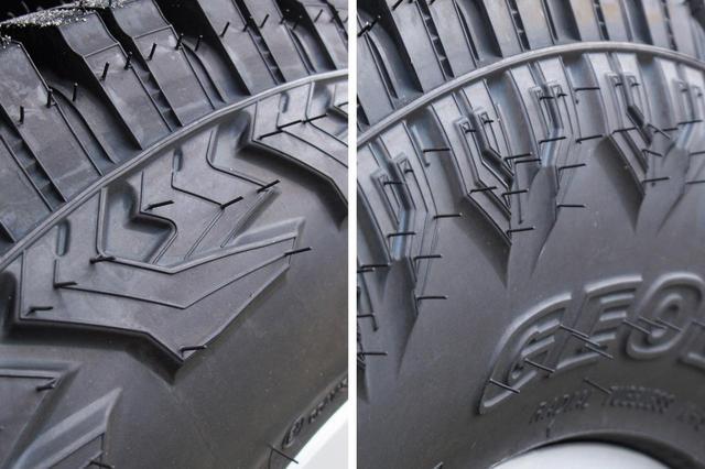 画像: サイドウオールのデザインが両サイドで異なるデザインを持つGEOLANDAR X-AT。