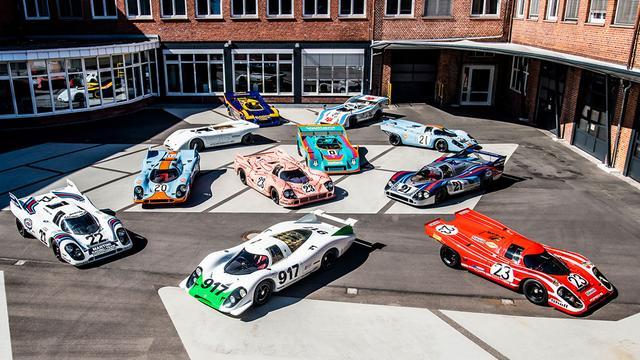 画像: 歴代917が集合。ひとくちに「917」と言っても様々なモデルが。