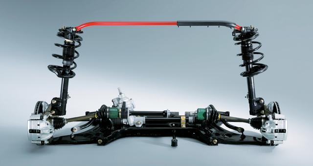 画像: 欧州仕様をベースに開発された足回りには、一部にインチ規格のネジがそのまま使われていた。