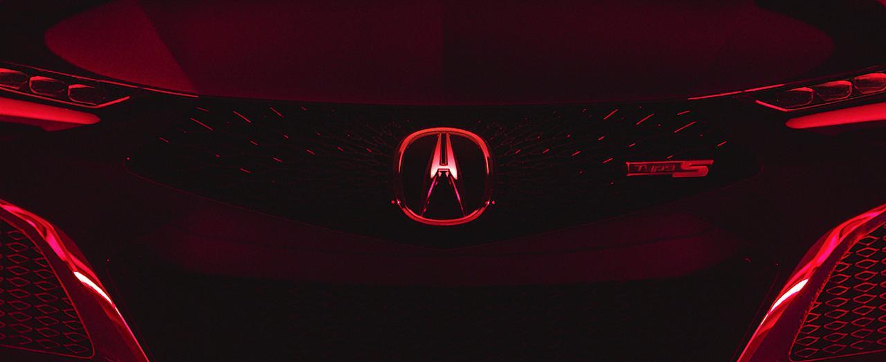 画像: コンセプトカーのフロントマスク。NSXを彷彿とさせる挑戦的なデザインだ。