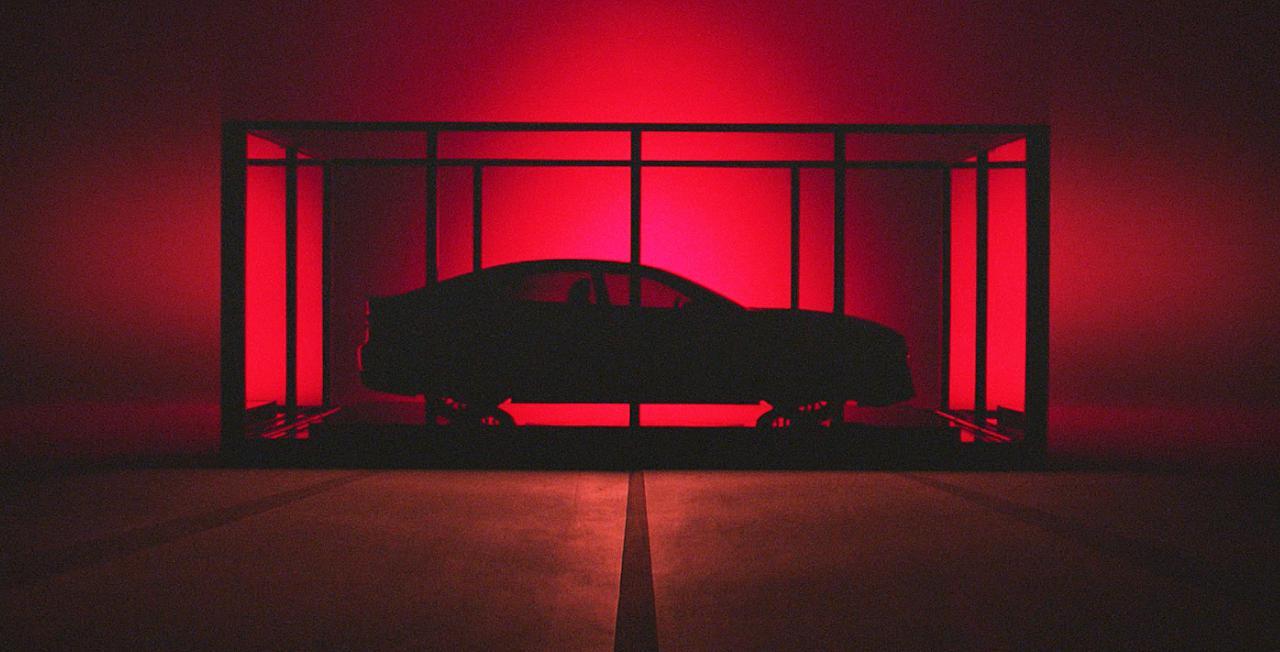 画像: コンセプトカーのベースは2020年に発売される次期アキュラTLXか。FR車のようなロングノーズ・スタイルを採用する。