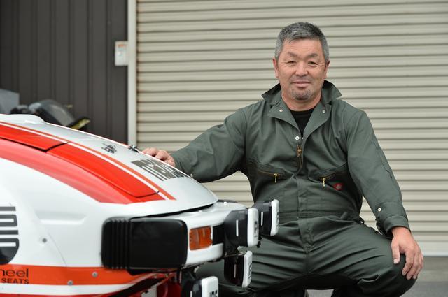 画像: オーナーの渡辺靖彦さん(57歳)。マツダにはエンジンパーツの再販を望みたいとのこと。