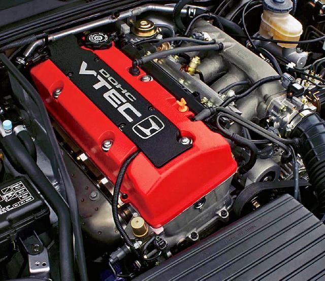 画像: 真っ赤なヘッドカバーにホンダのHマークと「DOHC VTEC」のロゴが際立つ。