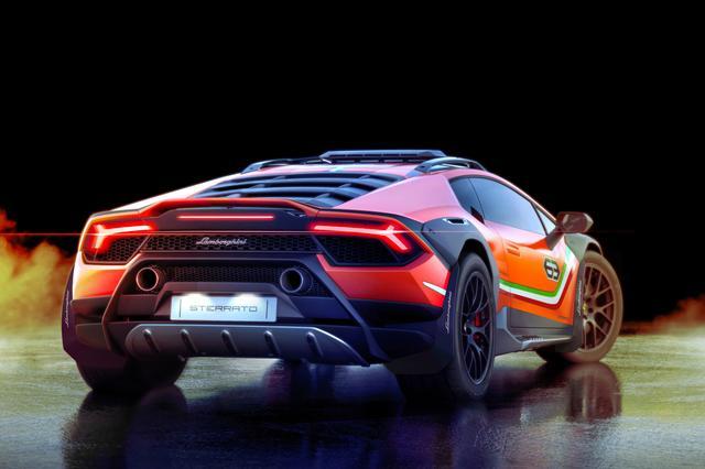 画像: オフロードを走れるスーパーカーというコンセプトで設計されたウラカン ステラート。ちなみに、Sterratoとはイタリア語で「星空」という意味。