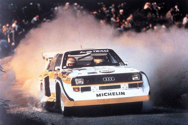 画像: 1985年サンレモラリーでのアウディ スポーツクワトロS1。ヴァルター・ロールが優勝。アウディにとってこれがグループBでの最後の優勝となった。