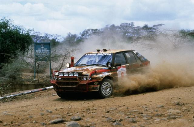 画像: 1988年サファリラリーのランチア デルタHF インテグラーレ。ミキ・ビアシオンのドライブで優勝。