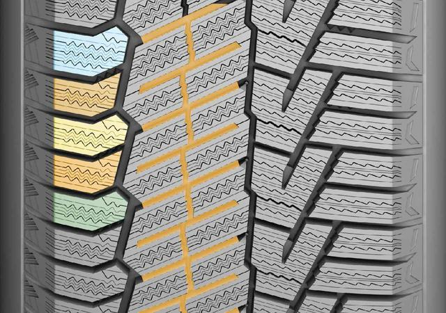 画像: 千鳥トレッドパターンは、ノイズを低減して快適性を高める。