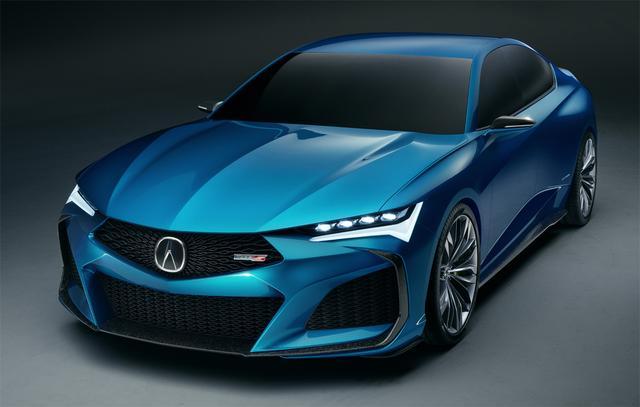 画像: 去る8月13日に北米で発表された次世代TLXと思われるコンセプトカー(ACURA Type S Concept)。ロングホイールベース版がRLXを名乗る可能性もあるが、日本導入の予定はない模様。
