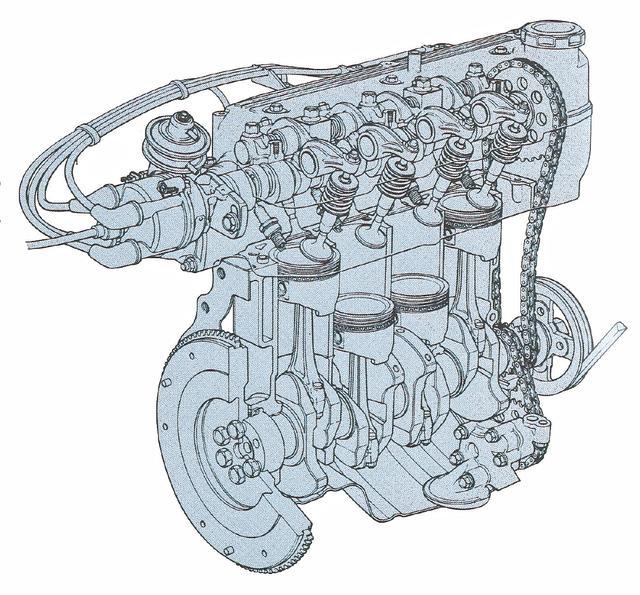 画像: エンジンは新開発のE5型直4SOHC。1.5Lから85ps/12.3kgmを発生した。