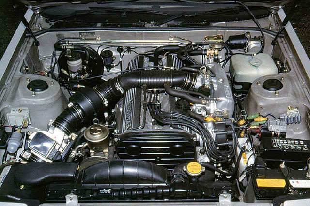画像: 2000GT以来久々に登場した直6DOHCが5M-GEU型。2.8Lという大排気量を誇り、トヨタの高級車にはなくてはならないエンジンであった。