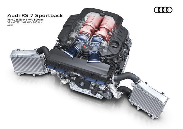 画像: 4.0LのV8ツインターボエンジン