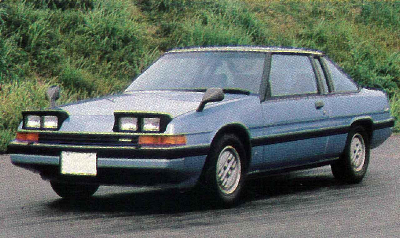 画像: 1981年9月のフルモデルチェンジ当初は、レシプロの2Lエンジンのみを搭載していた。EGIと組み合わされ最高出力は120ps。