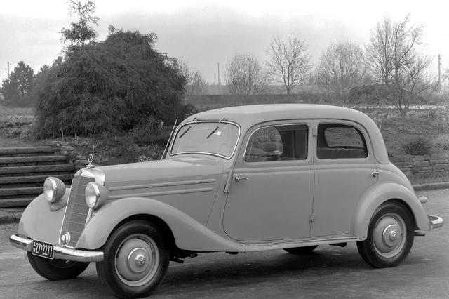 画像: 1952〜53年型の170Vb。170Vの戦後型モデル。ボディは、初登場した1930年代スタイルのままだった。