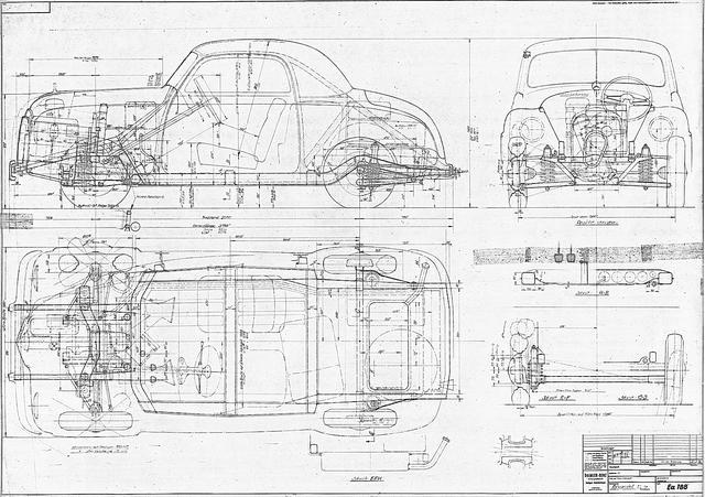 画像: 1948年に設計図が描かれた小型車。2+1シーターで全長が3.7mあまりしかない。前輪駆動である。