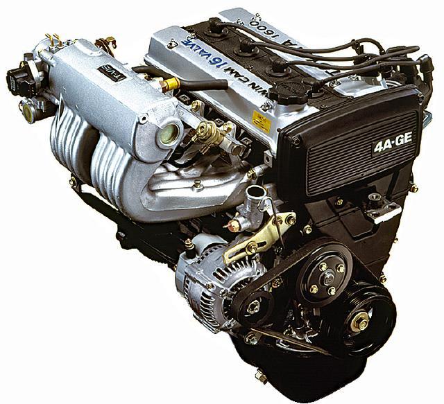 画像: リアミッドに横置きされる4A-Gエンジン。レビン/トレノなどにも積まれていた1.6LのDOHCは、130psの出力、15.2kgmのトルクを発生。