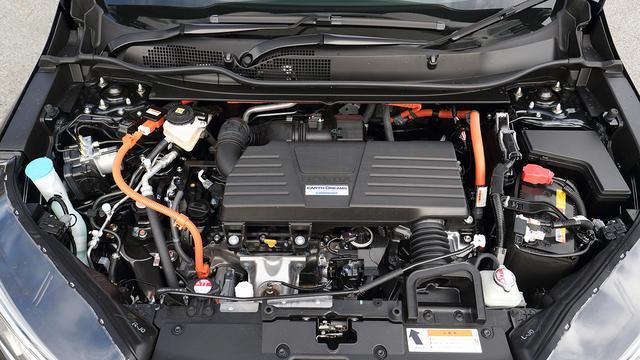 画像: アトキンソンサイクルの2.0L DOHC i-VTECガソリンエンジンと走行用/発電用の2モーターを組み合わせたHYBRID EXのパワーユニット。