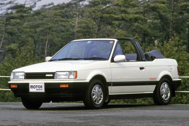 画像: 1985年10月、4WDターボと同時に追加発表された、ファミリア カブリオレ。1.5LのSOHCターボを搭載。