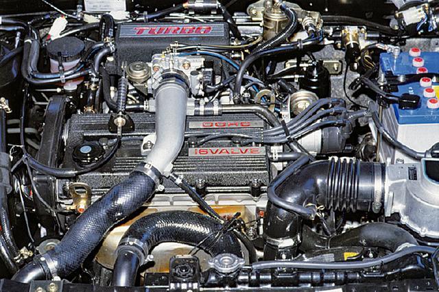 画像: B6型 1.6L DOHCターボエンジンは、1気筒あたり4バルブのDOHCにターボを組み合わせ、140psの高出力を発揮した。