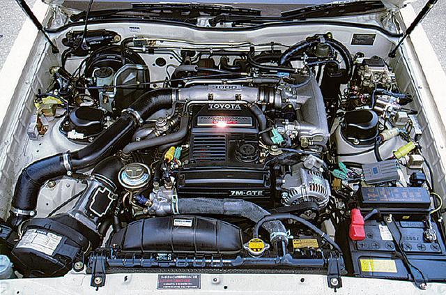 画像: 最高出力230psの7M-GTEUはM型エンジンの究極であり、当時は日本最強のパワーユニットだった。