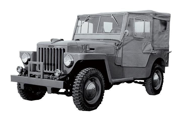 画像: 1951年に開発されたトヨタ ジープBJ型。商標の関係で1954年6月に車名を「ランドクルーザー」に変更。